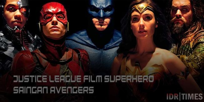 Justice League Film Superhero Saingan Avengers