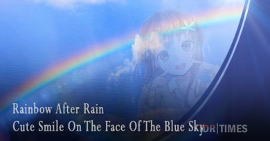 Rainbow After Rain – Cute Smile On The Face Of The Blue Sky